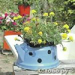 Оригинальные  садовые кашпо