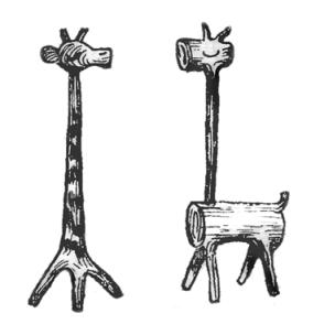 Фигурки из дерева для сада своими руками