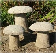 Декоративные грибы из цемента (бетона) для украшения участка своими руками
